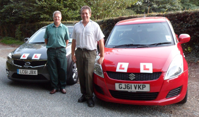 Two of the 1st Gear driving instructors